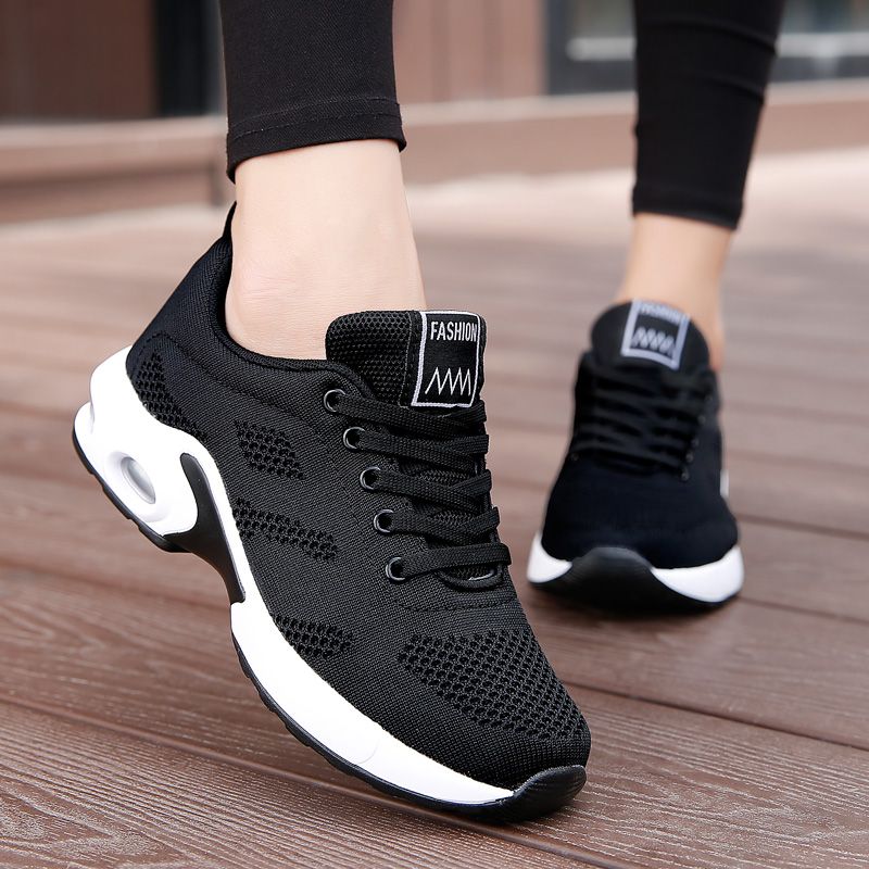 Women Shoes Fashion Lady Lightweight Sneakers Running Shoes Outdoor Sports Shoes Breathable Mesh Comfort Shoes Cushion Lace Up