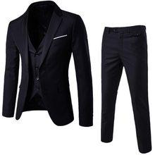 2020 мужские модные тонкие костюмы, мужские деловые повседневные костюмы-тройки, блейзеры, куртки, брюки, комплекты с жилетом