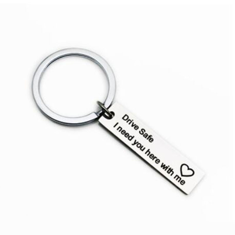 Popular Diy Keychain Fashion Drive Safe I need you here with me Letters Key Chains for BF Family Valentine 39 s Day Gift Jewelry in Key Chains from Jewelry amp Accessories