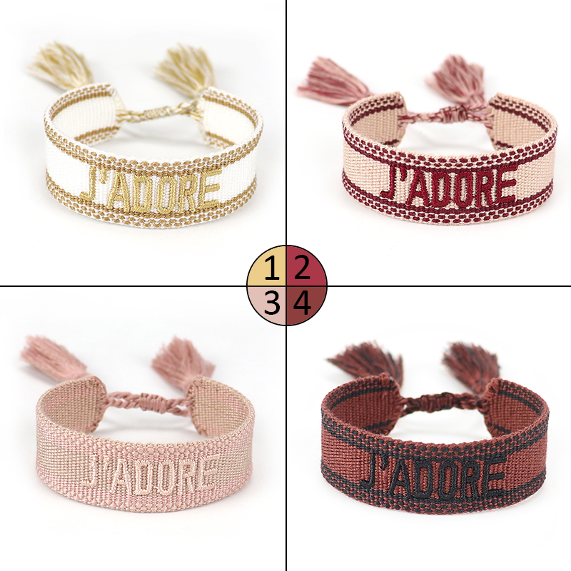 Женский плетеный браслет ручной работы, браслет дружбы, винтажные ювелирные изделия, подарок с регулируемой длиной и кисточками