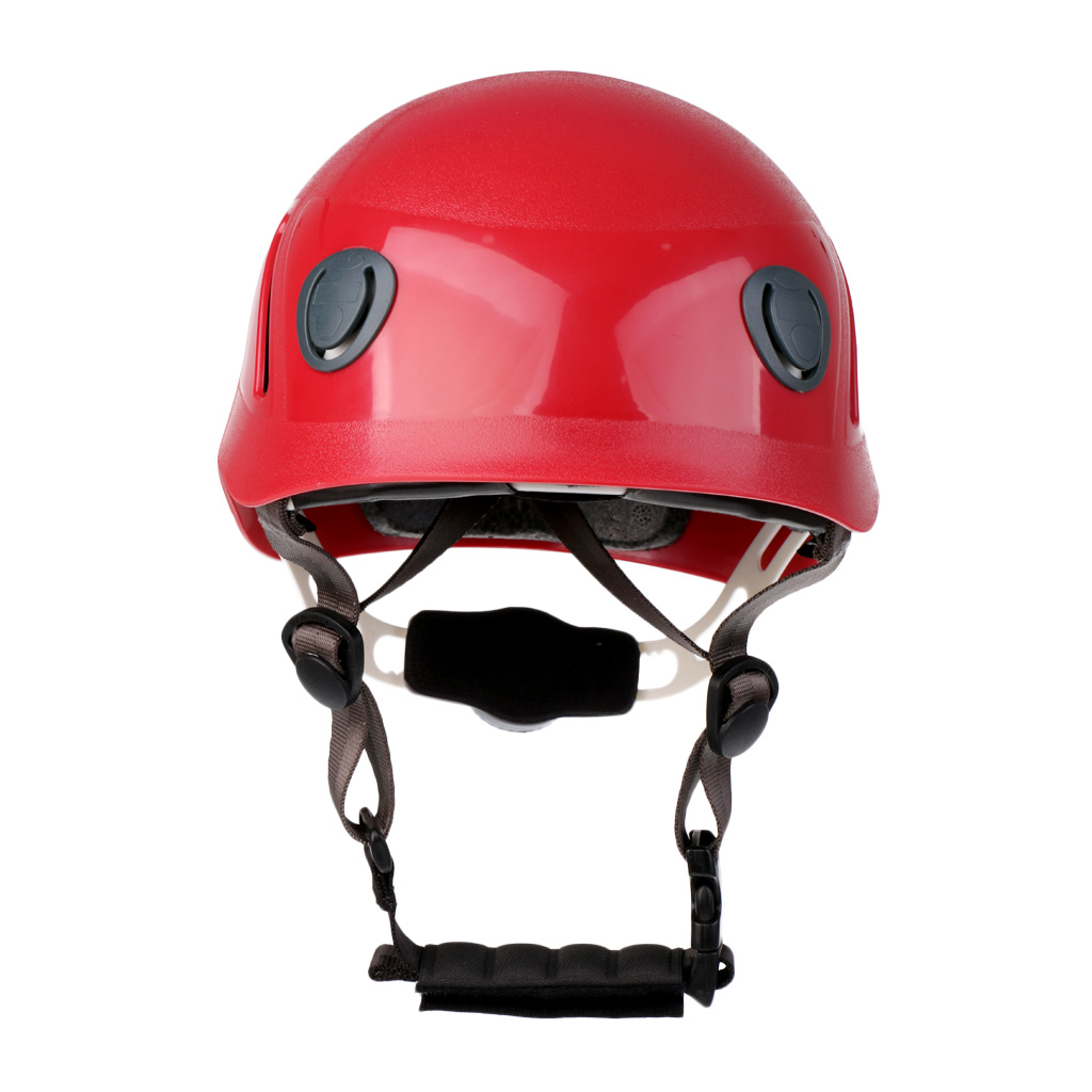 Kids Adjustable Safety font b Helmet b font Outdoor Climbing Kayaking Rappelling Abseiling Rescue Equip Red