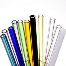 New Drinking Straws Fruit Tubularis 5pc Handmade Reusable Glass Straw Household Straight juice