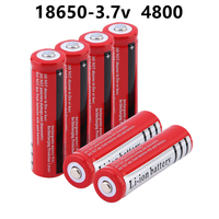 18650 batterie al litio 3.7 V Volt 4800mah BRC 18650 batterie ricaricabili agli ioni di litio per torcia Power Bank