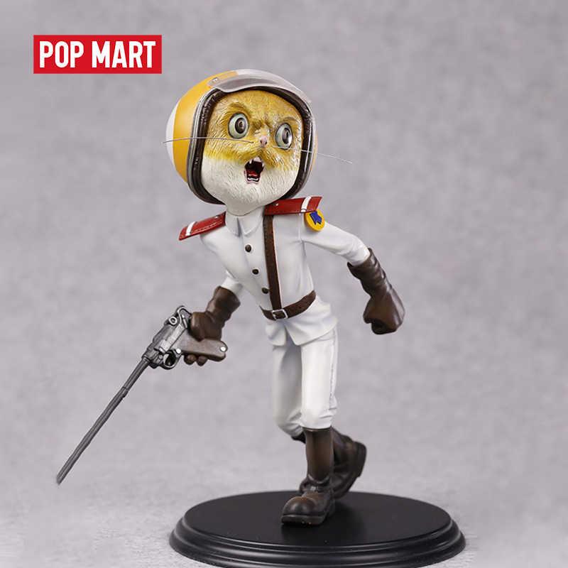 POPMART Mojiang 氏黒猫の保安官-白猫 (黄色の顔) おもちゃ図アクションフィギュア誕生日ギフトの子供のおもちゃ