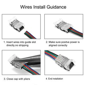 10 stücke 2pin 3pin 4pin 5pin LED Streifen Stecker Für RGB RGBW RGBWW 2812 3528 5050 LED Streifen Draht Verbindung terminal Stecker