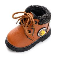 Hot Selling Baby Boys Girls Snow Boots Warm Anti-slip Infant Boots Thicker Kids Boys Shoes Toddler Shoes Winter