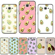 Obst avocado cartoon nette Druck Telefon Fall abdeckung Für Samsung Galaxy J2 J4 J5 J6 J7 J8 2016 2017 2018 prime Pro plus Neo duo(China)