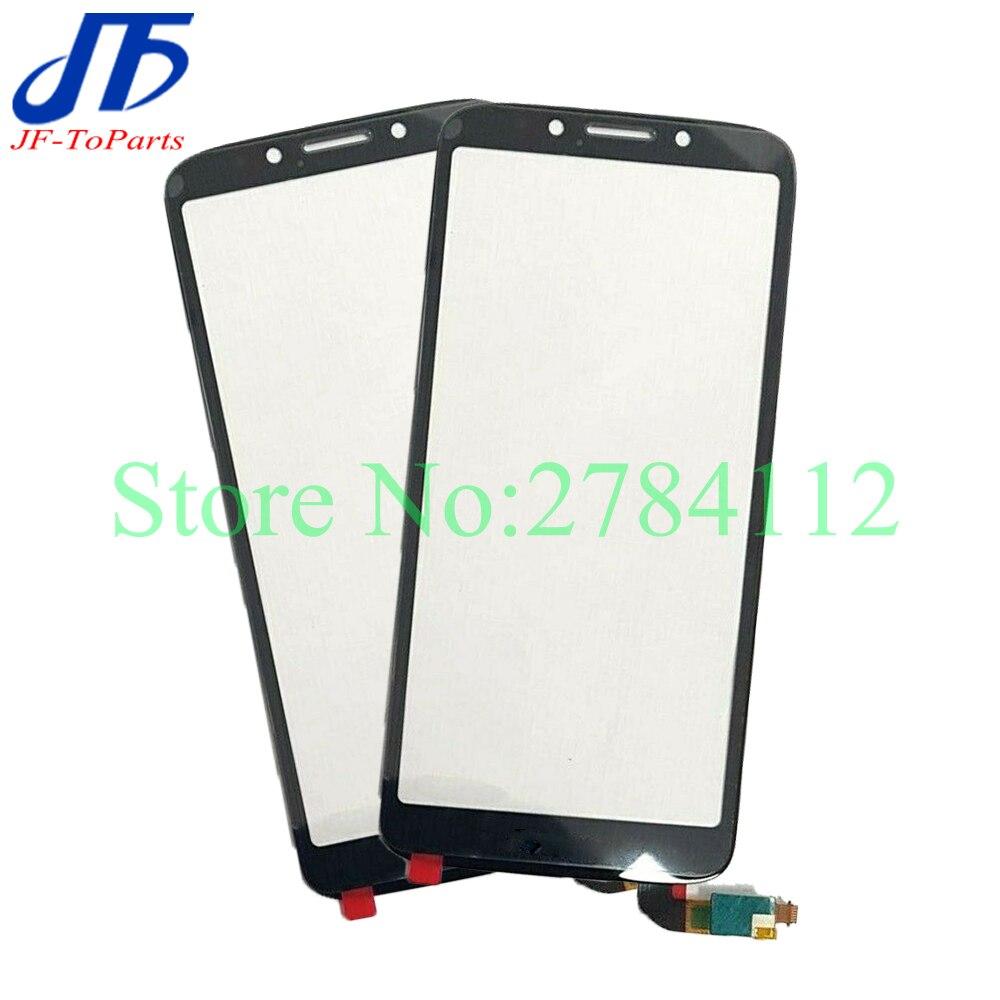 10Pcs Touch Screen Panel Für Motorola Moto E5 Spielen Gehen XT1920-15 XT1920-18 Vorderen Äußeren Glas Objektiv Abdeckung