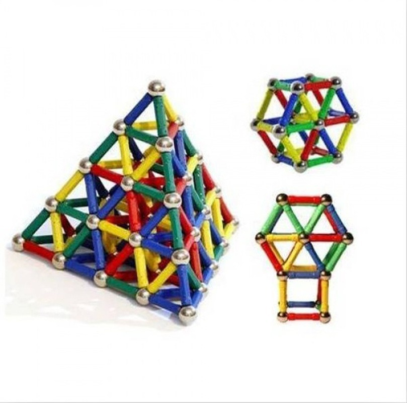 2019New 103pcs DIY Designer Education Fun Toy Magnet Metal Ball Kids Magnetic Building Block Toys Construction Toy Accessories