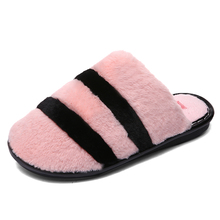 BOUSSACWinter Slippers Women Home Couple Flat Warm Plush Shoes Men's Soft Indoor Cover Heel Female Shoes Cotton Women Footwear