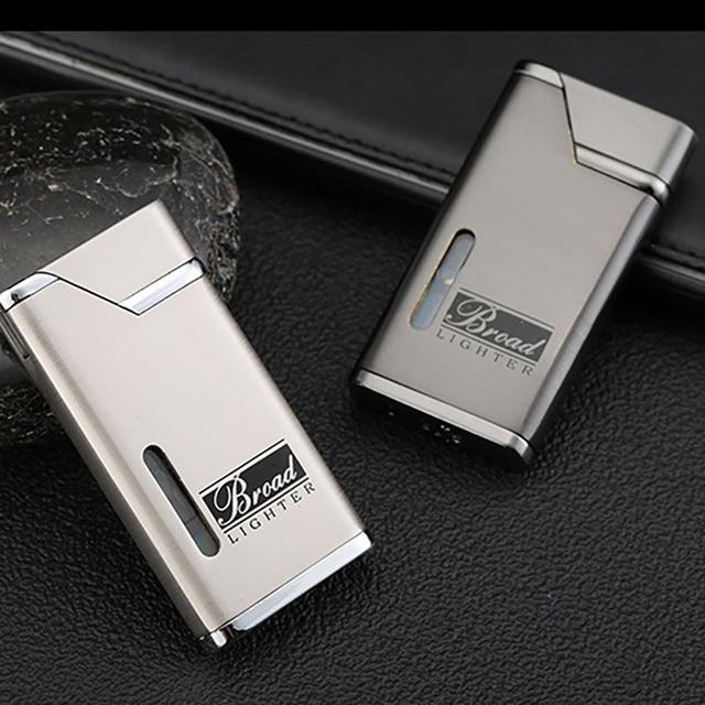 Visible Gas Lighter Metal Turbo Lighters Smoking Accessories Butane Torch Lighter Cigar Cigarettes Lighter Gadgets For Men 2