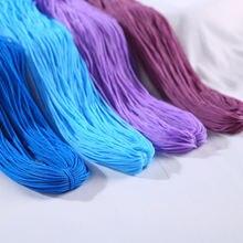 Прочная плетеная шелковая атласная нейлоновая веревка длиной