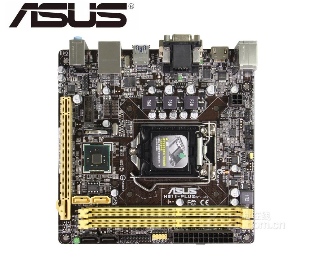 OEM Asus H81M-C LGA1150 16GB DDR3 SATA Motherboard w// I//O Shield /& Heatsink