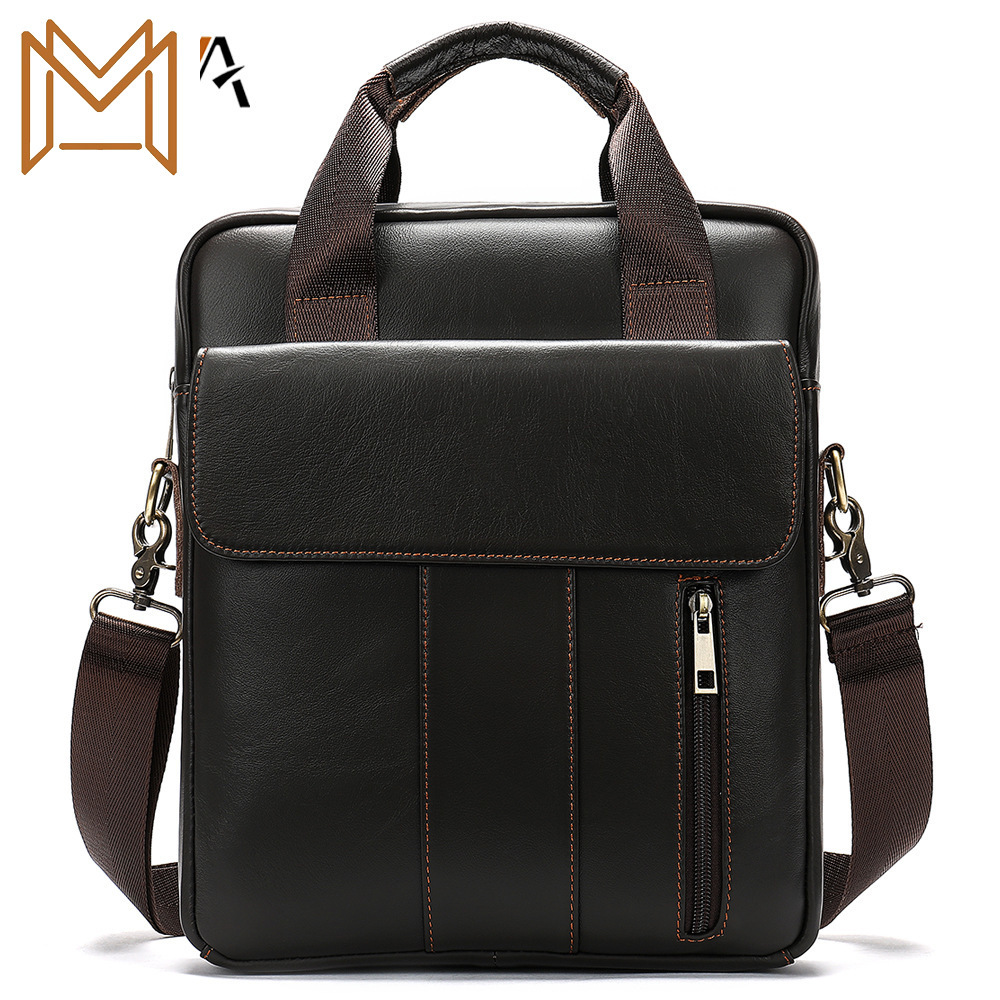 Diagonal Leisure Time Male Package Business Affairs Handbag Concise Solid Color Vertical Section Single Shoulder Package