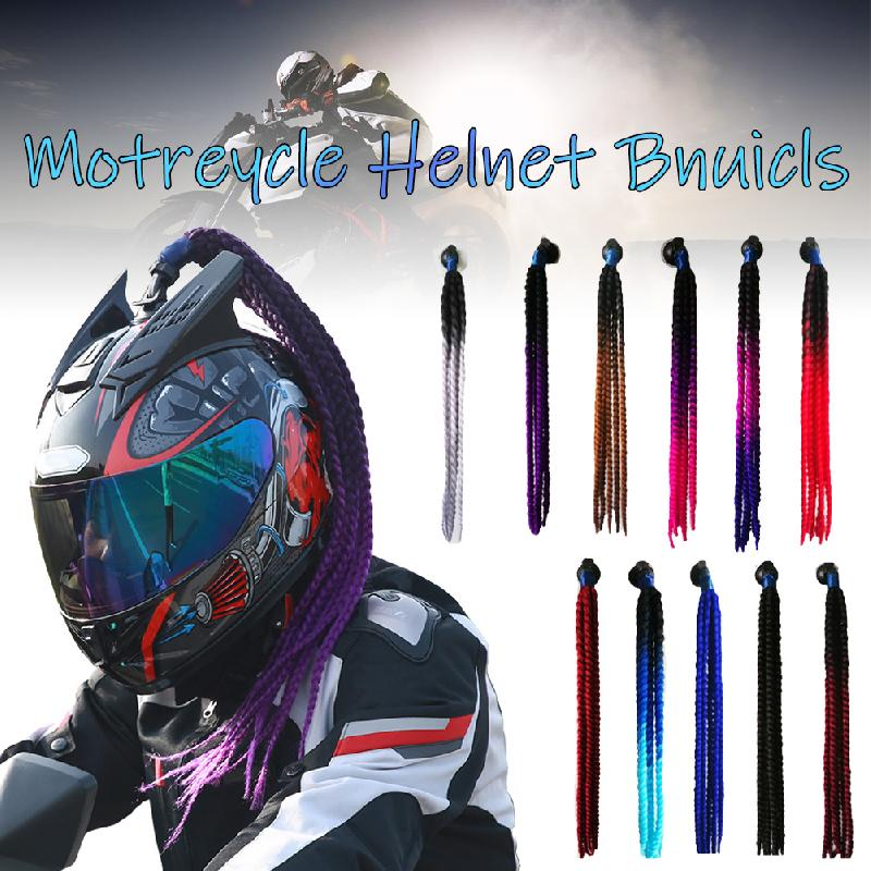 60cm Motorcycle Helmet Dreadlocks Women Helmet Dreadlocks Ponytail Braid Motocross Bicycle Helmet Punk Hair Decoration