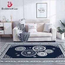 Bubble Kiss European Style Blue Gear Pattern Anti-slip Carpet Living Room Decor Area Rugs Home Customized Bedside Floor Mats