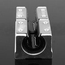 1 sztuk 20mm liniowe łożysko kulkowe blokujący przesuwanie się części routera CNC ze stopu aluminium niski poziom hałasu