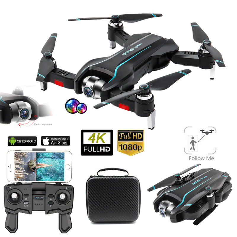 S17 Drone 4K Camera Adjustable Wide-Angle Quadcopter Optical Flow Dron 2.4g WIFI Foldable RC Drone FPV Height Maintenance Drohne image