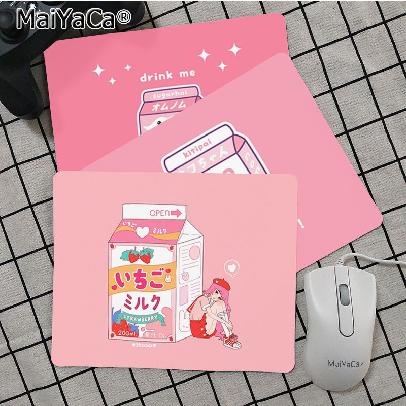 Maiya Kawaii Japanese Strawberry Milk MousePads Computer Laptop Anime Mouse Mat Top Selling Wholesale Gaming Pad mouse(China)