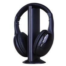 5 In 1 Nirkabel Stereo Headphone dengan 3.5 Mm Musik Mikrofon dengan Pembatalan Kebisingan TV Earphone untuk MP3 PC TV FM IPod Ponsel