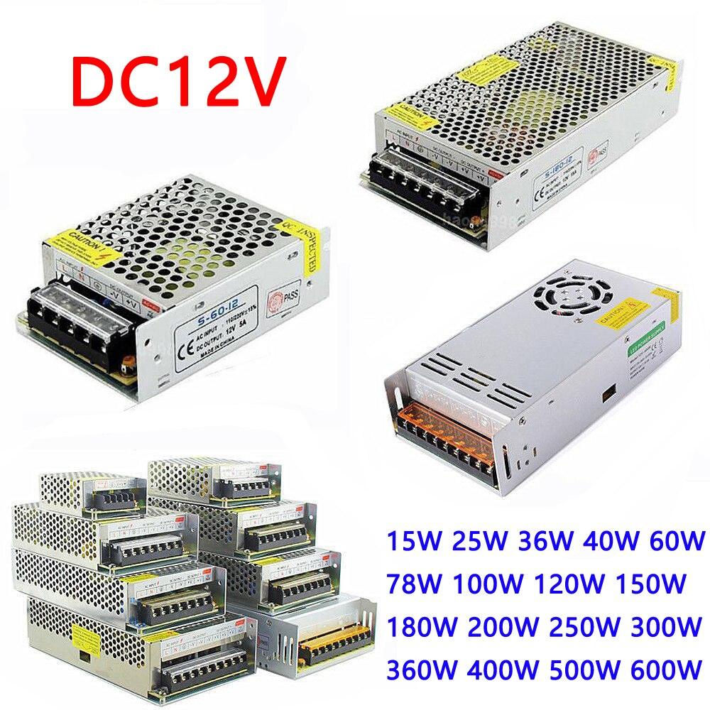 Transformador de iluminação 220 v 12 v 1.25A 2A 3A 5A 6.5A 8.5A 10A 12.5A 15A 16.5A 20A 25A 30A 33A 40A 50A Transformadores Para Tira CONDUZIDA