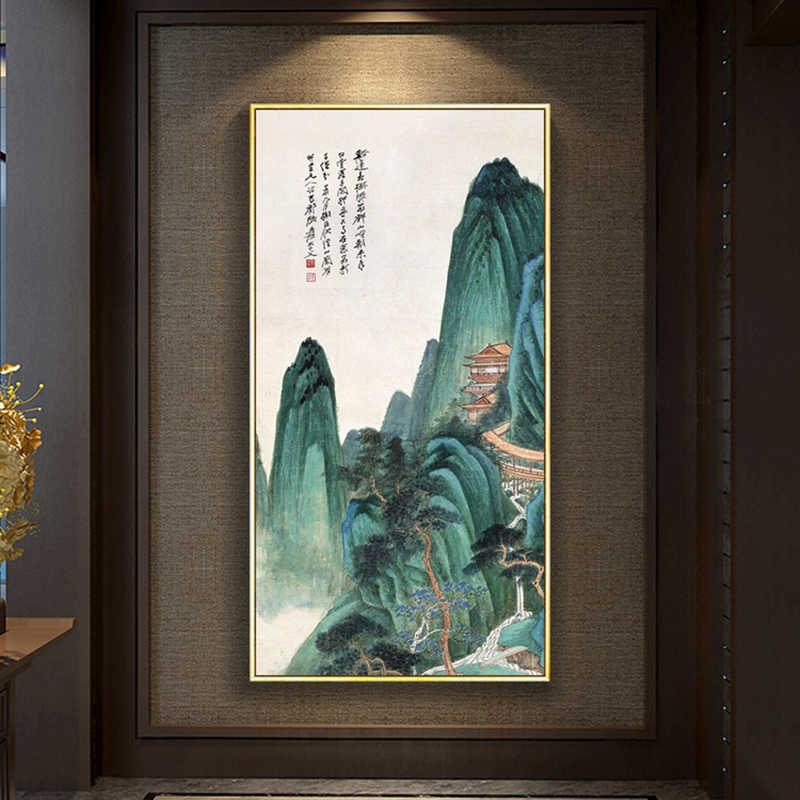 مؤطرة النفط الطلاء بواسطة أرقام الزهور المشهد صور مجردة طباعة قماش اللوحة لغرفة المعيشة جدار ديكور فني للمنزل