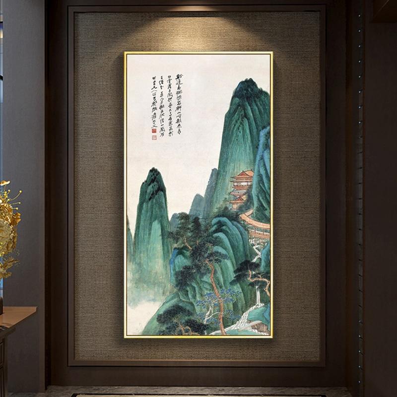 Encadré peinture à l'huile par numéros fleurs paysage images abstraites imprimer toile peinture pour salon mur Art décor à la maison