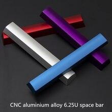 Klawiatura mechaniczna metalowa pusta przestrzeń Bar Keycap 6.25U 6.25X stop aluminium CNC anodowe utlenianie spacja kluczowe czapki profil OEM