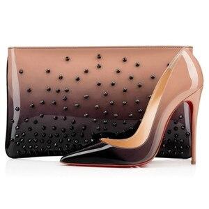 Женские туфли на высоком каблуке, классические туфли с красной подошвой, весна-осень 2019