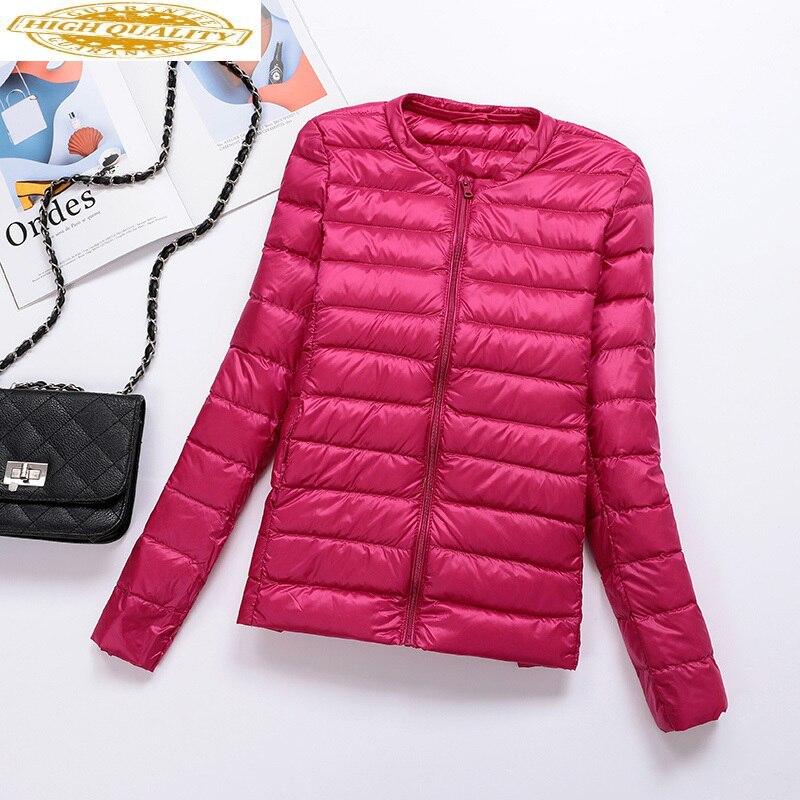 2020 Ultra Light Down Jacket Women Autumn Winter Puffer Coat Short Korean Women's Down Jackets Coats RSYL001 KJ3081