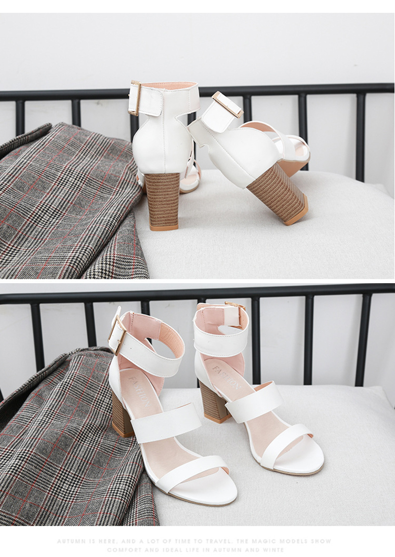 SWQZVT 2020 Summer New Thick High-heel Ankle Buckle Sandals Women Comfort Casual Women Sandals Party Female Shoes (6)