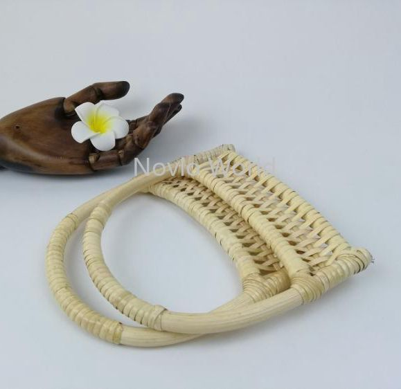 2-10-20 pieces,15X18cm Natural Rattan handles for bags,Pastoral style nature hand made knit bags handbags rattan handle
