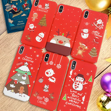 Christmas Day Ambiance Pattern Luminous Phone Case For 7 Plus 8 X XR 6 6s XS MAX Santa snowman elk christmas tree