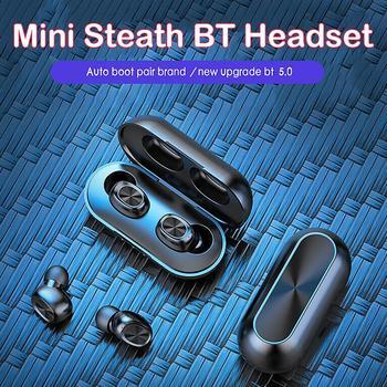 B5 TWS Wireless Bluetooth 5.0 Earphones In-ear Stereo Binaural Earbuds Headset Sensitivity 100±3dB / 6 MW Frequency 2.4gHZ