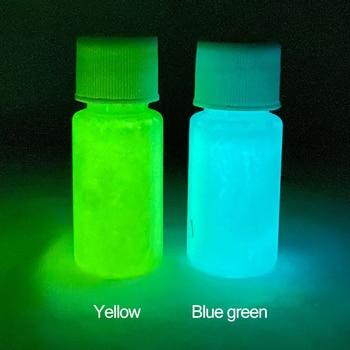 Glow in the Dark 2 Bottles Luminous Paint for Arts Party Decorations Blue Green Phosphor Pigment 20g juxtapoz dark arts