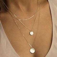 2020 Fashion Sequins Multi Layer long Necklaces Pendant Bohemian Necklace for Women Bijoux Jewelry Accessories