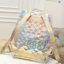 Xianjian Rusack Backpack Holographic Bag Laser Backpack Travel Bag Luxurious Luminous Reflective Backpack girls bag