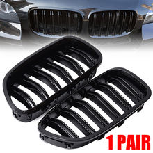 Treyues 1Pair Glossy Black Front Grille Kidney ABS Racing Grills For BMW F10 F11 M5 528i 530i 5-Series 11-16 цена и фото