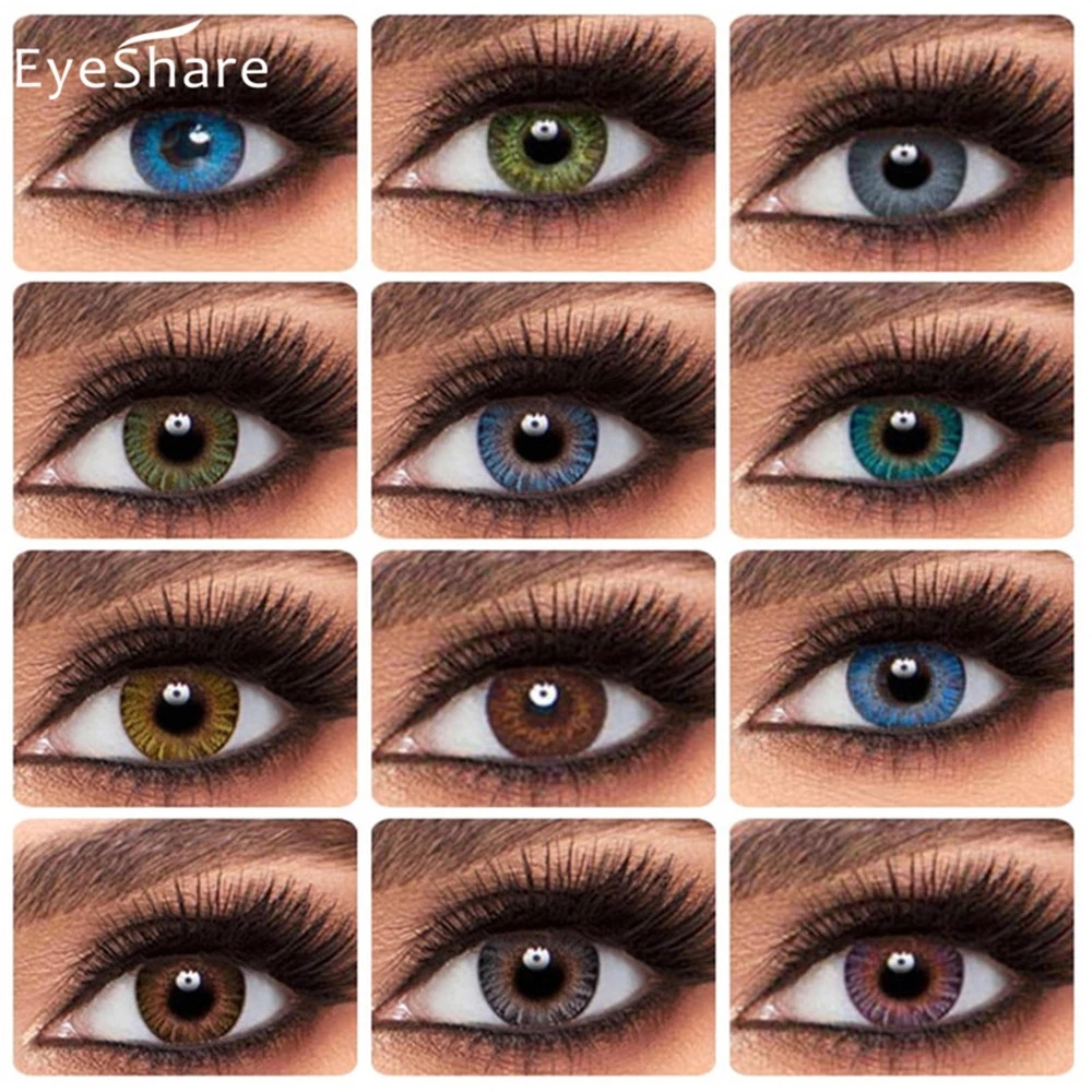 EYESHARE- 2 шт./пара, контактные линзы серии 3 тона для цветных линз для глаз ed, цветные контакты для глаз