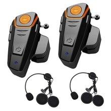 Bluetooth гарнитура для мотоциклетного шлема домофон рация для мотоцикла мотоцикл музыка громкой связи для 2-3 гонщиков