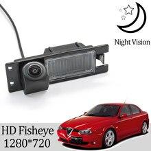 Owtosin hd 1280*720 fisheye câmera de visão traseira para alfa romeo 156 159 166 147 carro veículo reverso estacionamento acessórios