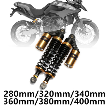 280mm 320mm 340mm 360mm 380mm 400mm Motorcycle Air Shock Absorber Rear Suspension ATV Quad Scooter Dirt Bike Motor D30 one pair 280mm motorcycle air shock absorber rear suspension for honda ymaha suzuki kawasaki aprilia benelli ktm