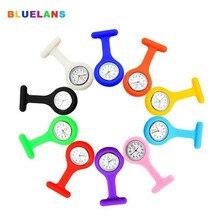Fashion Top Brand Luxury Silicone Nurse Watch Brooch Fob Pocket Tunic Quartz Movement Watch Watches