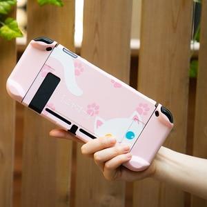 Image 5 - สำหรับ Nintendo สวิทช์ NS Joy CON Controller กรณีน่ารัก PC Shell ชุดสวิทช์คอนโซลอุปกรณ์เสริม