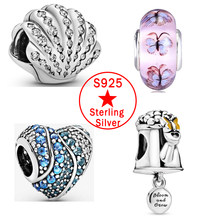 AODOGE Hot Sale 925 Sterling Silver Dream Catcher Angel Wing Charms fit Pandora Bracelet Heart Tree Blossom Crown Flag Beads(China)