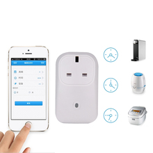 WiFi Smart Remote Control Appliances Timing System Android UK Plug Switch Home Appliance Controller for Home Office Hotel cheap Socket switch Plastic Other Switches 20164315 Knob switch