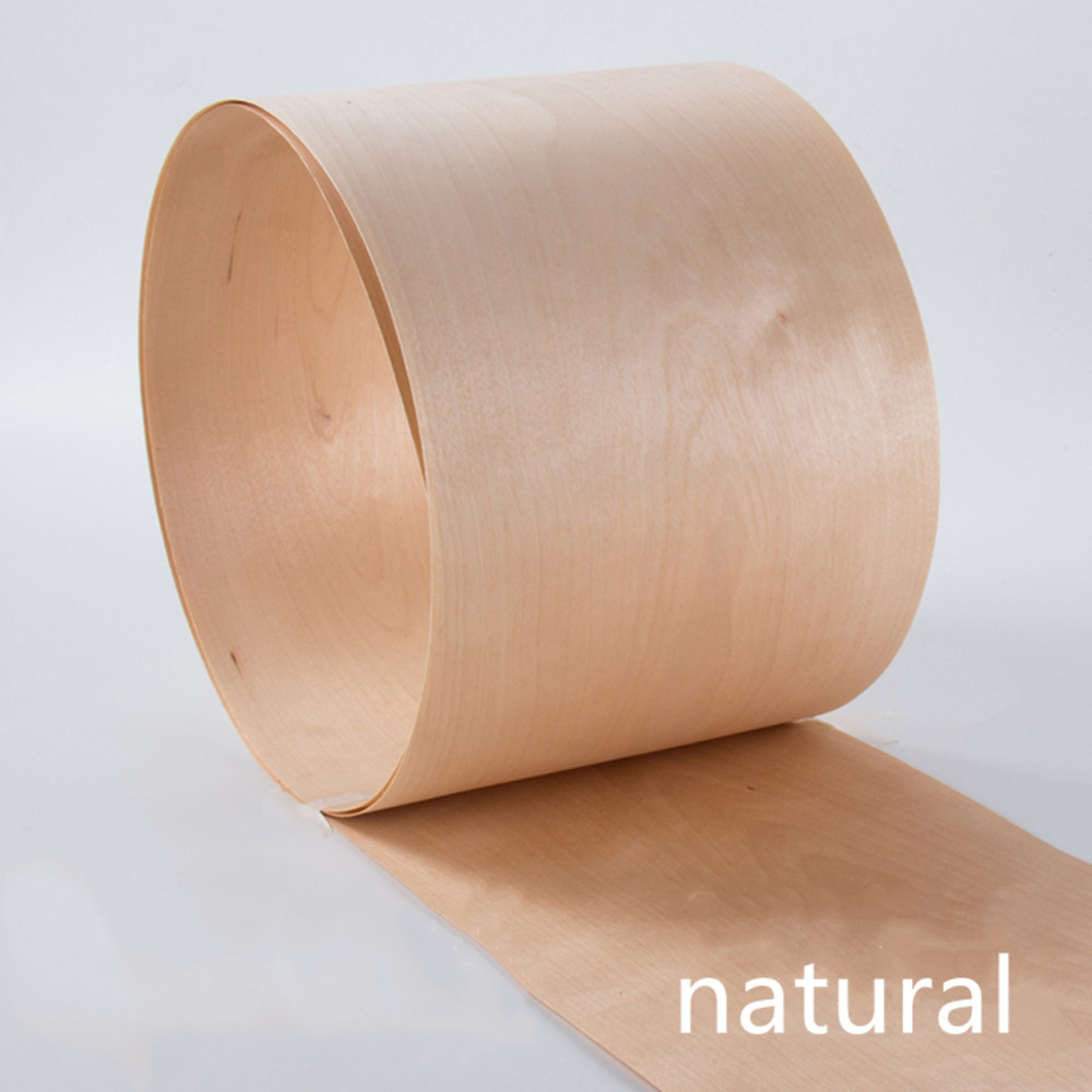 2x Natural Genuine Chinese Maple Wood Veneer For Furniture About 15cm X 2.3m 0.4mm Thick C/C