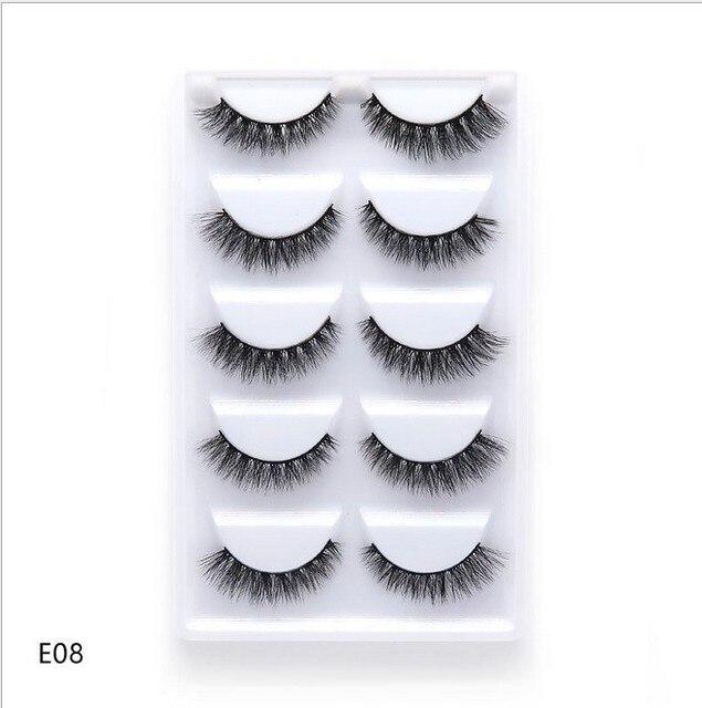 5 pairs natural false eyelashes fake lashes long makeup 3d mink lashes eyelash extension mink eyelashes for beauty 1