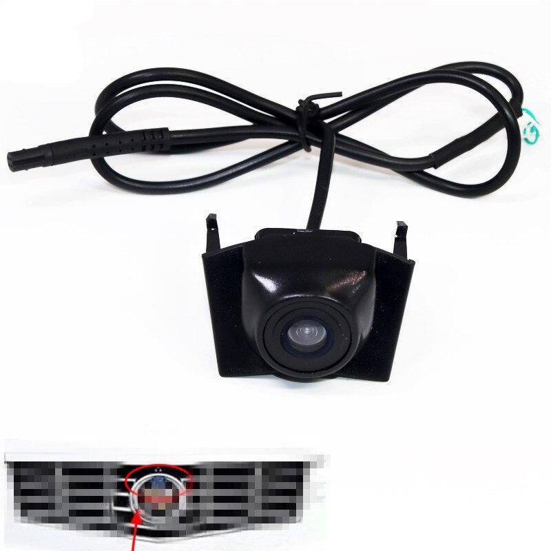 HD CCD Car Front View Camera For Cadillac XTS 2014 XT5 2016 SRX 2013 2014 Car Front View Vehicle Camera Parking Kit Waterproof