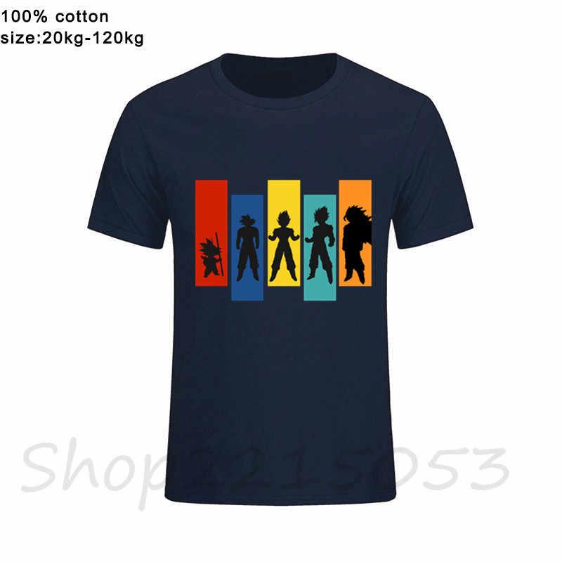 Dragon Ball Z Saiyan Evolução Men jogo engraçado Camisetas streetwear tshirts Broly Goku Japonês anime presente de aniversário masculino camisetas